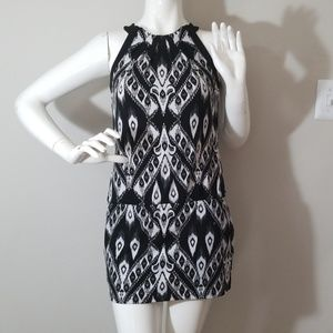 *WHBM* tribal print black and white dress.